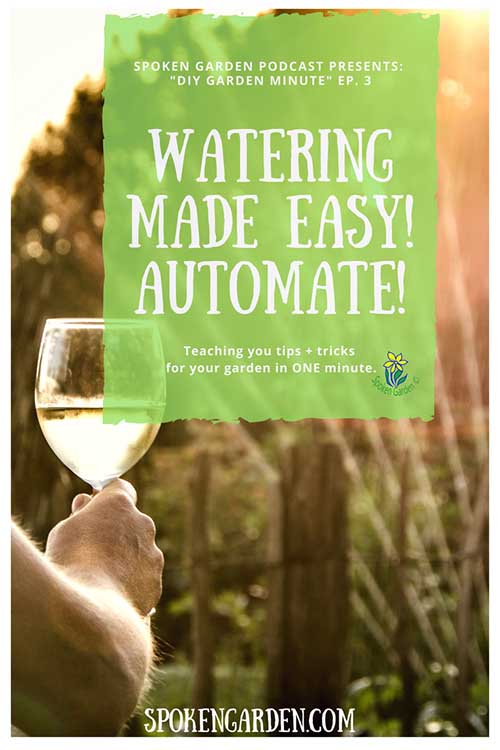 DIY garden minute- Watering Made Easy!-2