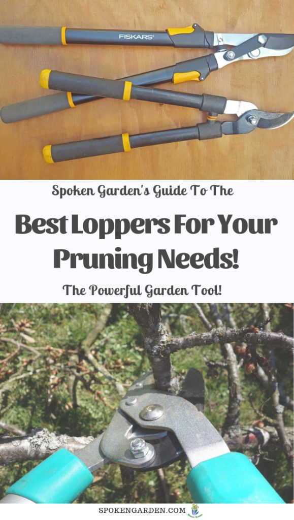 Fiskars loppers with text overlay in Spoken Garden's podcast advertisement