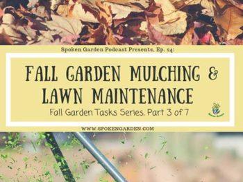 Ep. 24: Fall Garden Mulching and Lawn Maintenance