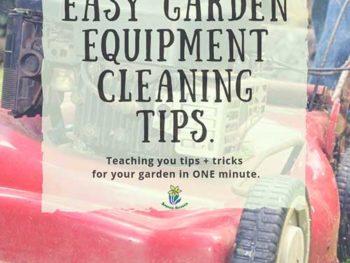 DIY Garden Minute Ep. 26: Easy Garden Equipment Cleaning Tips